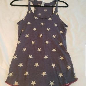 Blue Tank with White Stars